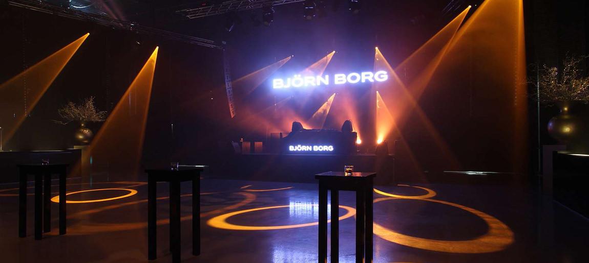 Björn Borg decorbouw Custom Event