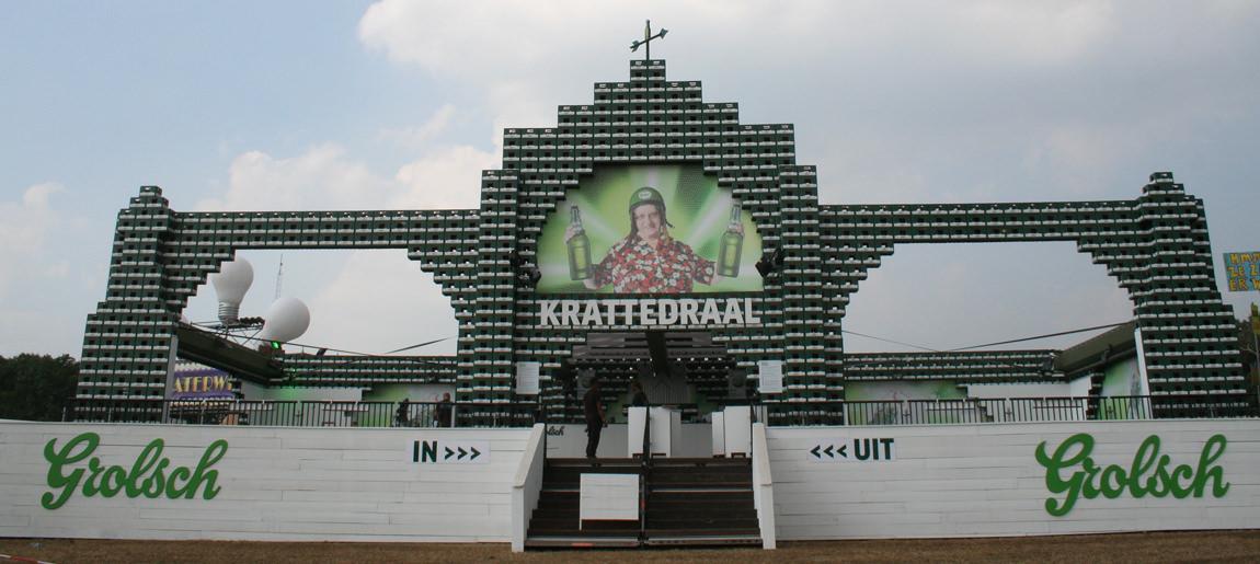 Grolsch krattedraal decorbouw Custom Event