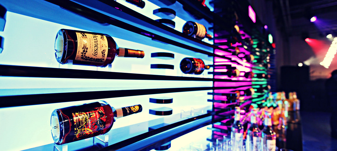 Moët Hennessy LED bar | brand activation Custom Event