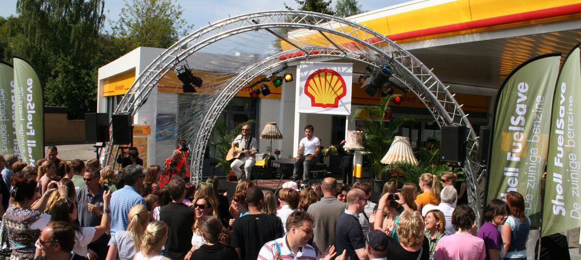 Shell Concerttour brand activation Custom Event