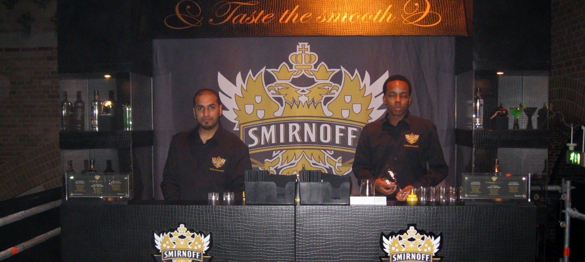 Smirnoff interieurbouw Custom Event