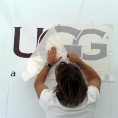UGG modeshow decorbouw Custom Event