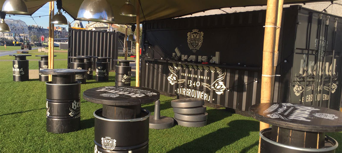 Brand bier | decorbouw Custom Event