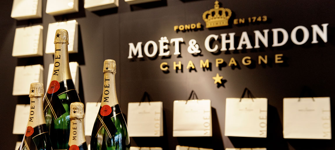 Moët & Chandon Bijenkorf interieurbouw Custom Event18